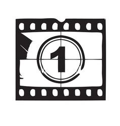 Film and cinema icon vector image vector image