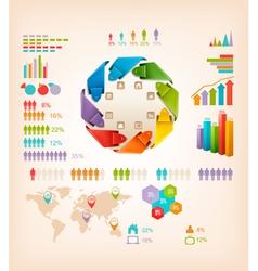 Set of Info graphics elements vector image vector image