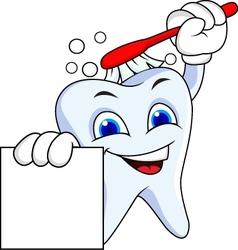 Tooth cartoon vector image vector image