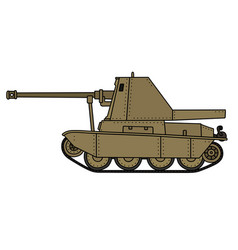 vintage self propelled gun vector image vector image