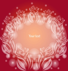 Background with transparent roses vector image vector image