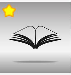 black book icon button logo symbol concept high vector image vector image