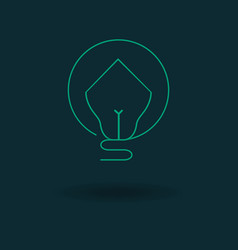 bulb house icon vector image