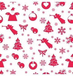 Christmas seamless pastel vector image vector image