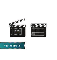 a set of clapper on a white background with vector image