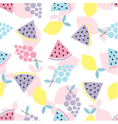 abstract pattern with fruit vector image