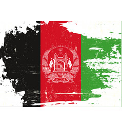 Afghan scratched flag vector