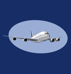 Airbus a380 flight a giant commercial jet liner vector