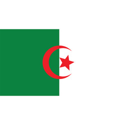 Algeria flag for independence day and infographic vector