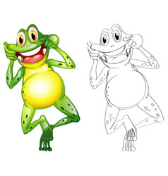 Animal outline for frog vector