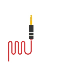 Audio jack cable icon isolated vector