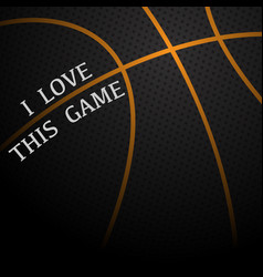 basketball love background vector image