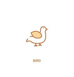 Bird concept 2 colored icon simple line element vector