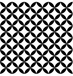 Black and white overlapping circles abstract vector