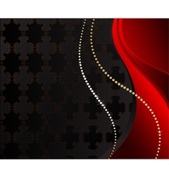 Black jewelry background vector