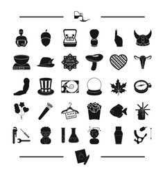 Body body and other web icon in black style food vector