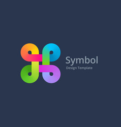 Bowen knot symbol logo icon design template vector