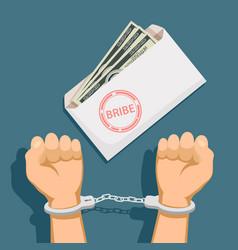 Bribery and corruption vector