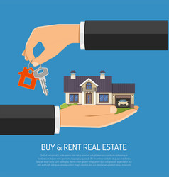 Buy or rent real estate vector