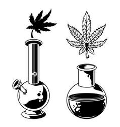 Cannabis devise design vector