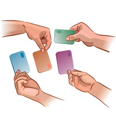 Card in the hand vector image