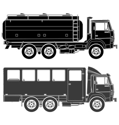 cars silhouettes set vector image