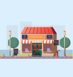Closed because bankruptcy cafe cartoon vector