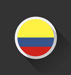 Colombia national flag on dark background vector