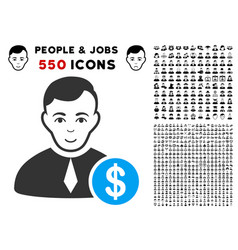 Commercial lawyer icon with bonus vector