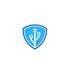 digital shield logo icon design vector image