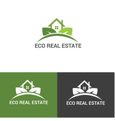 Eco real estate logo vector