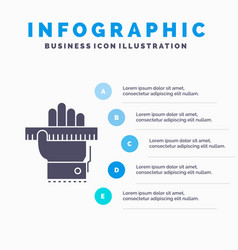 education hand learn learning ruler infographics vector image