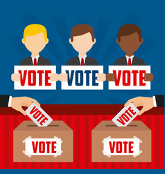 Elections day design vector