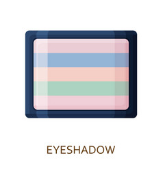 eyeshadow palette make up background cosmetic vector image