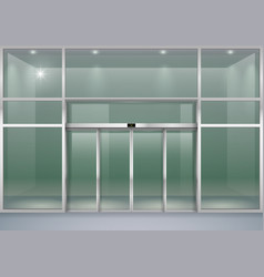 facade with sliding doors vector image