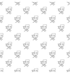 Film director chair pattern seamless vector