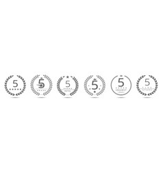 five star badge set vector image