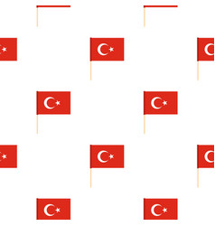 Flag of turkey pattern seamless vector