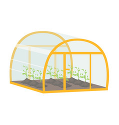 Greenhouse single icon in cartoon style vector