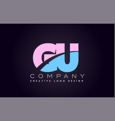 gu alphabet letter join joined letter logo design vector image vector image