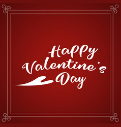 Happy valentines day holiday lettering design vector
