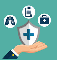 Health insurance service concept vector