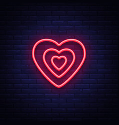 heart is a neon sign neon icon light symbol web vector image