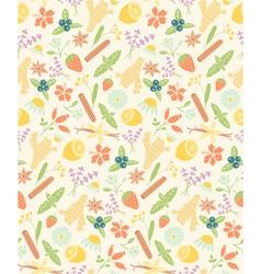 herbal ingredients pattern vector image