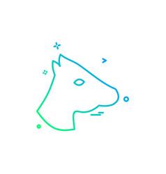 horse icon design vector image