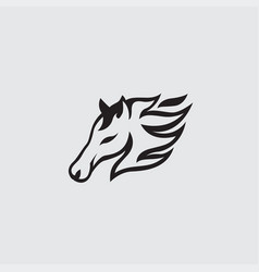 Horse logo design vector