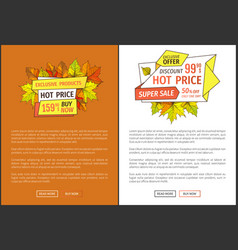 hot price exclusive products buy now super offer vector image