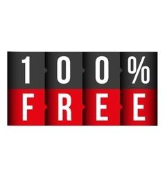 Hundred percent free lettering vector
