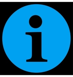 Information flat blue color icon vector