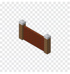 Isolated brick wall isometric barrier vector